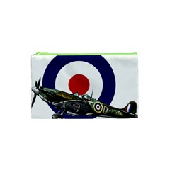 Spitfire And Roundel Cosmetic Bag (xs) by TheManCave