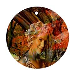 Autumn Round Ornament by icarusismartdesigns