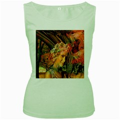 Autumn Women s Tank Top (green) by icarusismartdesigns