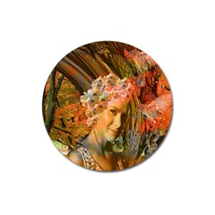 Autumn Magnet 3  (round) by icarusismartdesigns