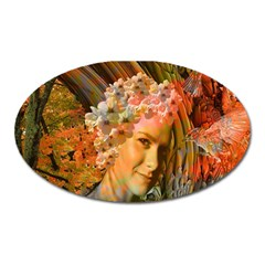 Autumn Magnet (oval) by icarusismartdesigns