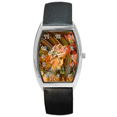 Autumn Tonneau Leather Watch by icarusismartdesigns