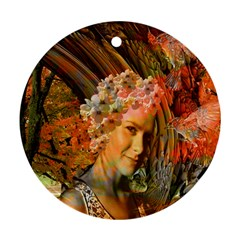 Autumn Round Ornament (two Sides) by icarusismartdesigns