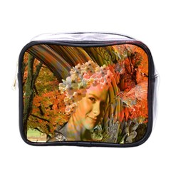 Autumn Mini Travel Toiletry Bag (one Side) by icarusismartdesigns