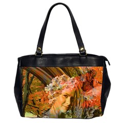 Autumn Oversize Office Handbag (two Sides) by icarusismartdesigns