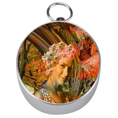 Autumn Silver Compass by icarusismartdesigns