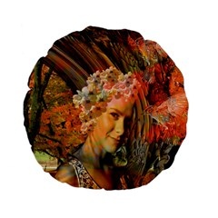 Autumn 15  Premium Flano Round Cushion  by icarusismartdesigns