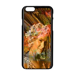 Autumn Apple Iphone 6 Black Enamel Case by icarusismartdesigns