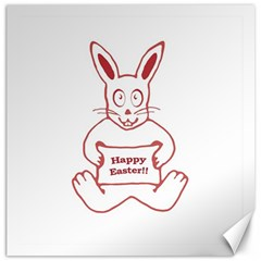 Cute Bunny Happy Easter Drawing I Canvas 16  X 16  (unframed) by dflcprints