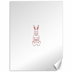 Cute Bunny Happy Easter Drawing I Canvas 36  X 48  (unframed) by dflcprints