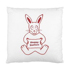 Cute Bunny Happy Easter Drawing I Cushion Case (single Sided)  by dflcprints