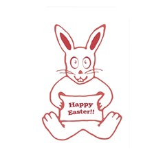 Cute Bunny Happy Easter Drawing I Memory Card Reader (rectangular) by dflcprints