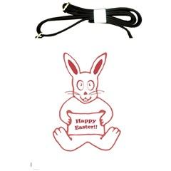 Cute Bunny Happy Easter Drawing I Shoulder Sling Bag by dflcprints