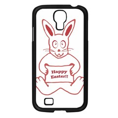 Cute Bunny Happy Easter Drawing I Samsung Galaxy S4 I9500/ I9505 Case (black) by dflcprints