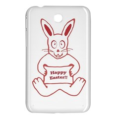 Cute Bunny Happy Easter Drawing I Samsung Galaxy Tab 3 (7 ) P3200 Hardshell Case  by dflcprints