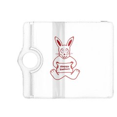 Cute Bunny Happy Easter Drawing I Kindle Fire Hdx 8 9  Flip 360 Case by dflcprints