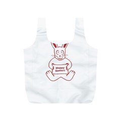 Cute Bunny Happy Easter Drawing I Reusable Bag (s) by dflcprints