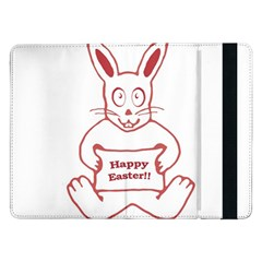 Cute Bunny Happy Easter Drawing I Samsung Galaxy Tab Pro 12 2  Flip Case by dflcprints