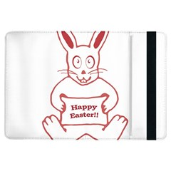 Cute Bunny Happy Easter Drawing I Apple Ipad Air Flip Case by dflcprints
