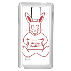 Cute Bunny Happy Easter Drawing I Samsung Galaxy Note 4 Case (white) by dflcprints