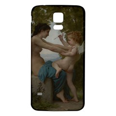 William Adolphe Bouguereau A Young Girl Defending Herself Against Eros Samsung Galaxy S5 Back Case (white) by Curioddities