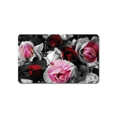 Black And White Roses Magnet (name Card) by bloomingvinedesign