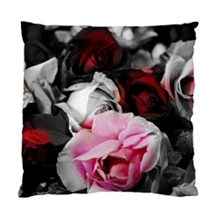 Black And White Roses Cushion Case (single Sided)  by bloomingvinedesign