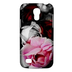 Black And White Roses Samsung Galaxy S4 Mini (gt I9190) Hardshell Case  by bloomingvinedesign