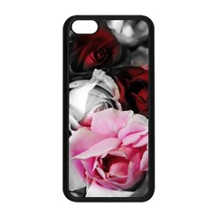 Black And White Roses Apple Iphone 5c Seamless Case (black)