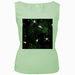 Black And White Spider Webs Women s Tank Top (green) by bloomingvinedesign