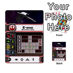 X Wing Maneuver Cards Wave 4 6 By Matt   Multi Purpose Cards (rectangle)   Ejgchyss53zm   Www Artscow Com Front 12