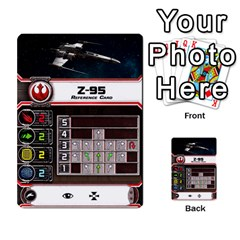 X Wing Maneuver Cards Wave 4 6 By Matt   Multi Purpose Cards (rectangle)   Ejgchyss53zm   Www Artscow Com Front 14