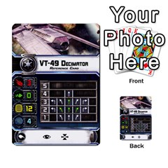 X Wing Maneuver Cards Wave 4 6 By Matt   Multi Purpose Cards (rectangle)   Ejgchyss53zm   Www Artscow Com Front 17
