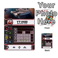X Wing Maneuver Cards Wave 4 6 By Matt   Multi Purpose Cards (rectangle)   Ejgchyss53zm   Www Artscow Com Front 22