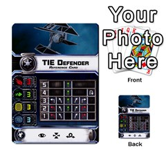 X Wing Maneuver Cards Wave 4 6 By Matt   Multi Purpose Cards (rectangle)   Ejgchyss53zm   Www Artscow Com Front 4