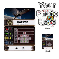 X Wing Maneuver Cards Wave 4 6 By Matt   Multi Purpose Cards (rectangle)   Ejgchyss53zm   Www Artscow Com Front 34
