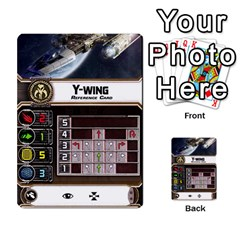 X Wing Maneuver Cards Wave 4 6 By Matt   Multi Purpose Cards (rectangle)   Ejgchyss53zm   Www Artscow Com Front 45