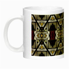 Abstract Geometric Modern Seamless Pattern Glow In The Dark Mug by dflcprints