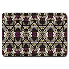 Abstract Geometric Modern Seamless Pattern Large Door Mat by dflcprints