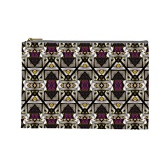 Abstract Geometric Modern Seamless Pattern Cosmetic Bag (large) by dflcprints