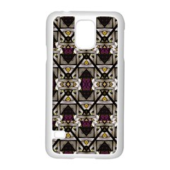 Abstract Geometric Modern Seamless Pattern Samsung Galaxy S5 Case (white) by dflcprints