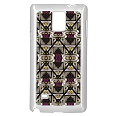 Abstract Geometric Modern Seamless Pattern Samsung Galaxy Note 4 Case (white)