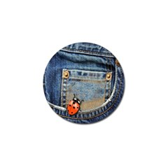 Blue Jean Lady Bug Golf Ball Marker by TheWowFactor