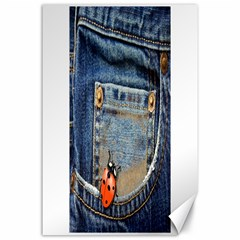 Blue Jean Lady Bug Canvas 24  X 36  (unframed) by TheWowFactor