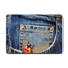 Blue Jean Lady Bug Small Door Mat by TheWowFactor