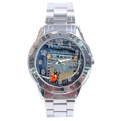 Blue Jean Lady Bug Stainless Steel Watch by TheWowFactor