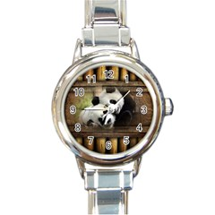 Panda Love Round Italian Charm Watch by TheWowFactor