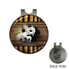 Panda Love Hat Clip with Golf Ball Marker by TheWowFactor
