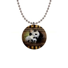 Panda Love Button Necklace