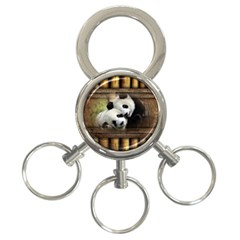 Panda Love 3 Ring Key Chain by TheWowFactor